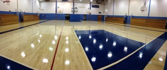 Caldwell Gym Floor After